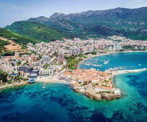 Budva, Montenegro. Aerial view.